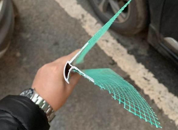 PVC带网滴水批发